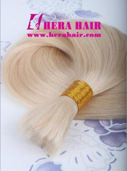 Blonde European Remy Braiding Hair Extensions