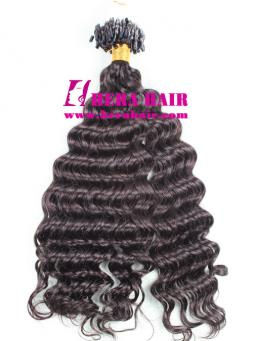 20 Inches 1B Curly Indian Remy Micro Ring Hair Extensions