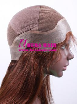 Custom 14 inches #3 Brown Indian Virgin Hair Full Lace Wigs