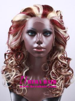 Piano Blonde Color Synthetic Lace Front Wigs