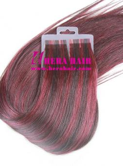 Piano Color 2/99J European Virgin Tape Hair Extensions