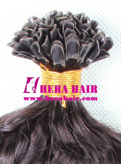 Wholesale Curly Indian Remy U Tip Fusion Hair Extensions