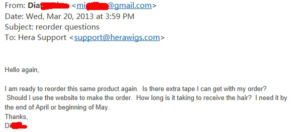 Hera's USA tape hair extensions buyer review