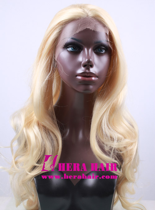 Hera 24 inches wavy #613 blonde synthetic lace front wigs
