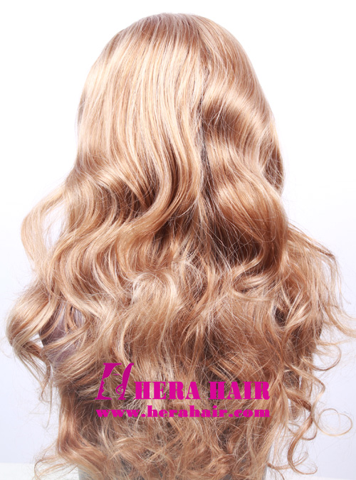 #6 Wavy Synthetic Lace Front Wigs with #27 Highlight