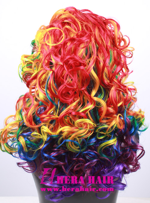Hera Curly Rainbow Widow Synthetic Lace Front Wigs
